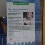 Thalia-Schaufenster, Lesung H.-P. Schwintowski